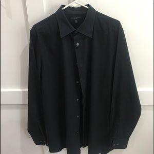 BANANA REPUBLIC - MEN'S BLACK BUTTON DOWN XL